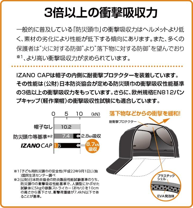 防災用キャップ IZANO CAP スタンダードタイプ