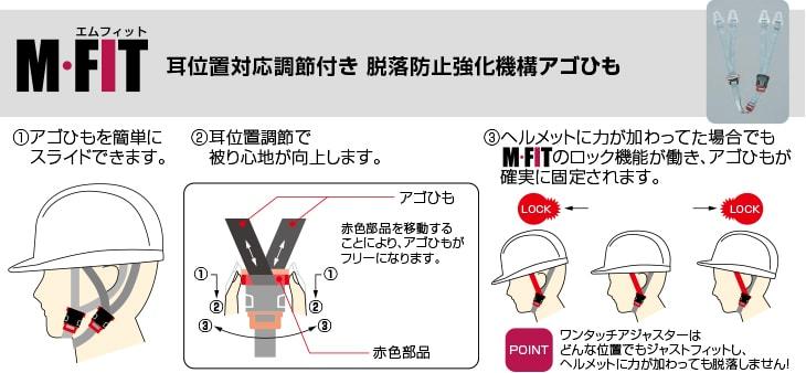 M-FITアゴひも(耳あごひも一体型)